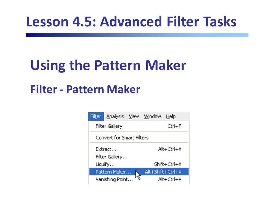 Lesson 4.5: Advanced Filter Tasks Using the Pattern Maker Filter - Pattern Maker