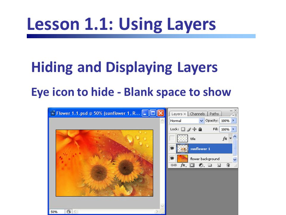 Lesson 1.4: Advanced Layers Exporting Layers Run Export Layers to Files script from File menu