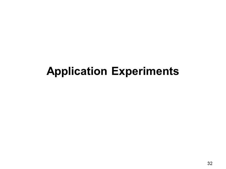 32 Application Experiments
