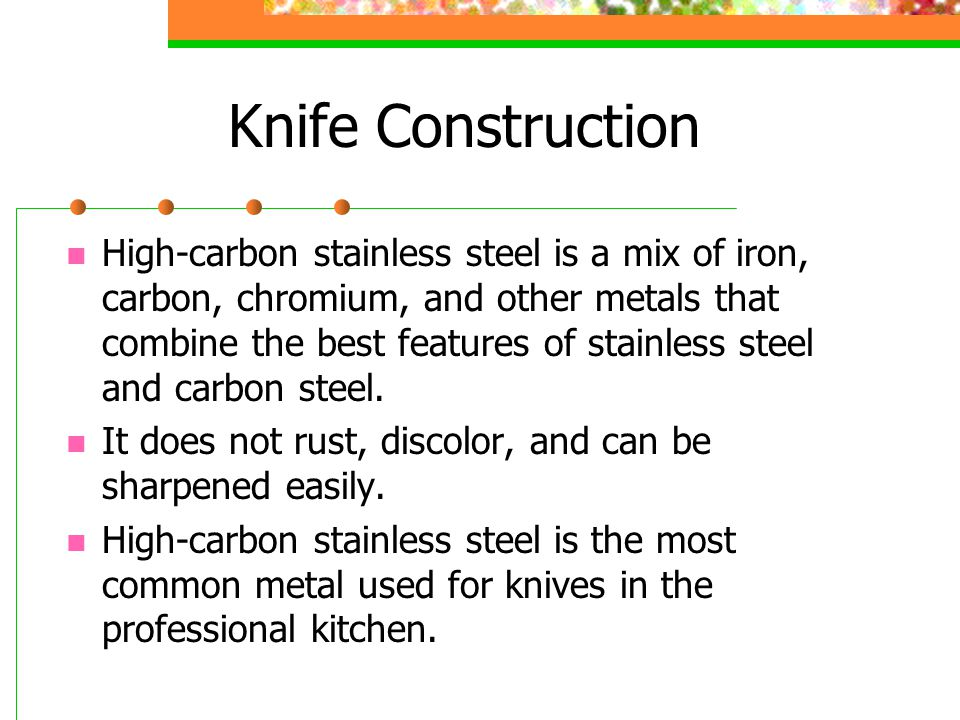 Types of Knives Chef's Knife Also called a French Knife is the most important tool in the chef's tool kit.