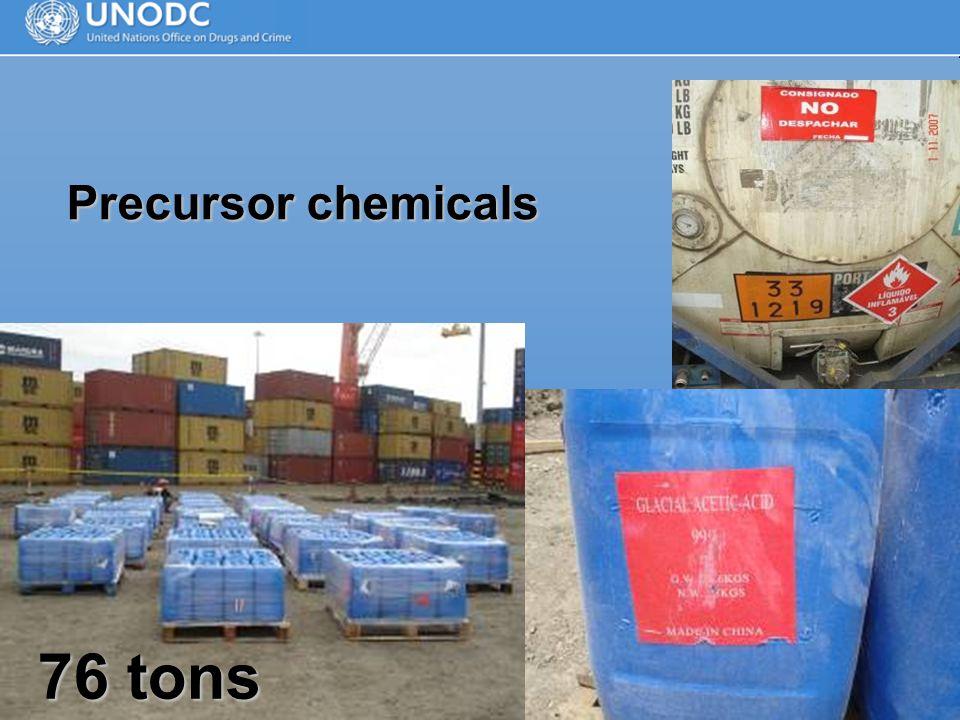 Precursor chemicals 76 tons