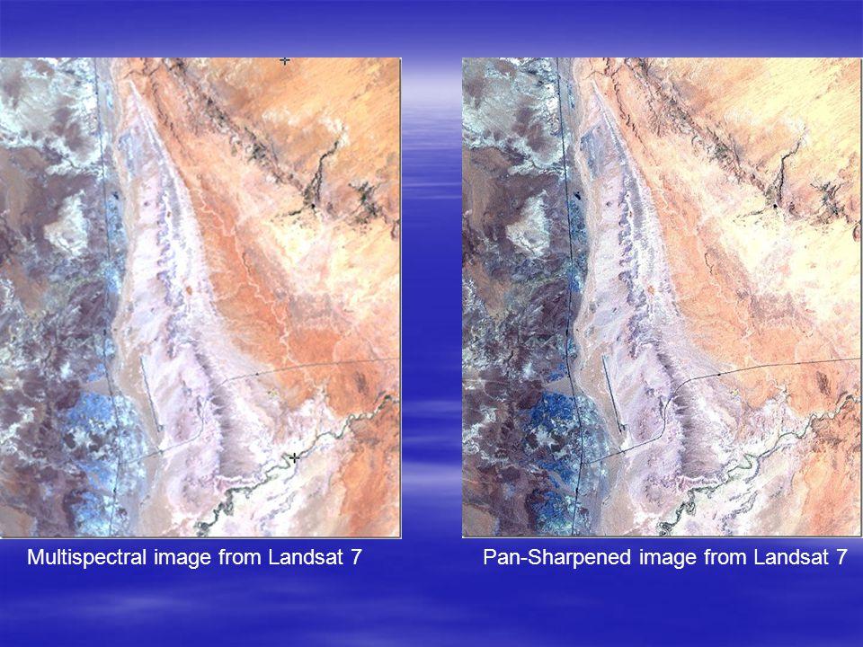 Multispectral image from Landsat 7 Pan-Sharpened image from Landsat 7