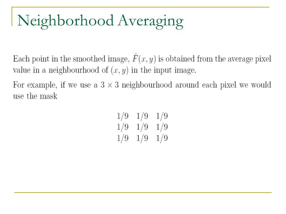 Neighborhood Averaging