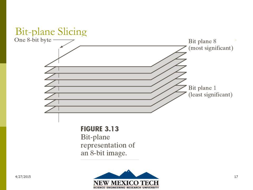Bit-plane Slicing 4/27/201517