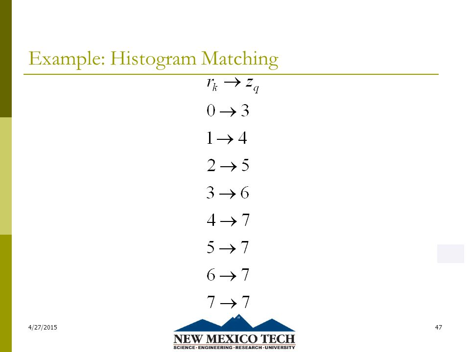 Example: Histogram Matching 4/27/201547