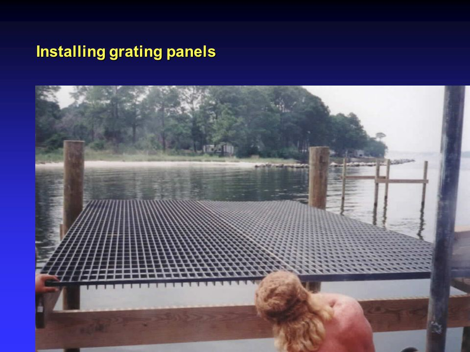 Installing grating panels