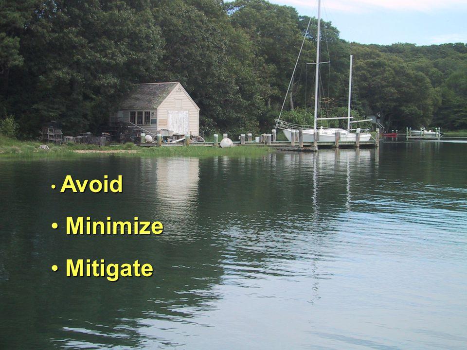 Avoid Avoid Minimize Minimize Mitigate Mitigate