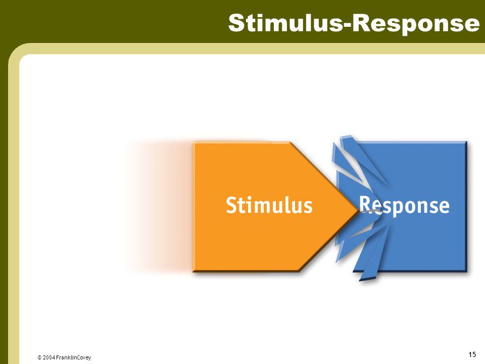© 2004 FranklinCovey 15 Stimulus-Response