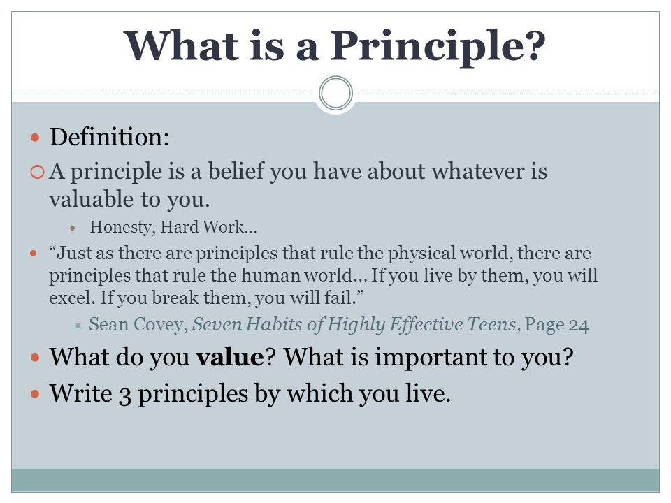 What is a Principle.