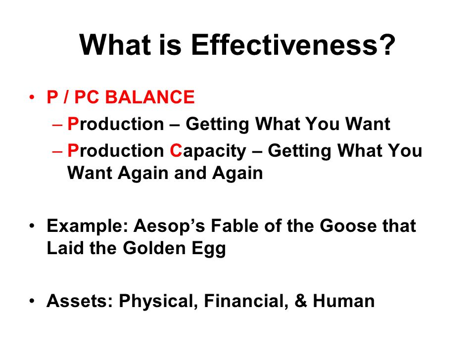 What is Effectiveness.