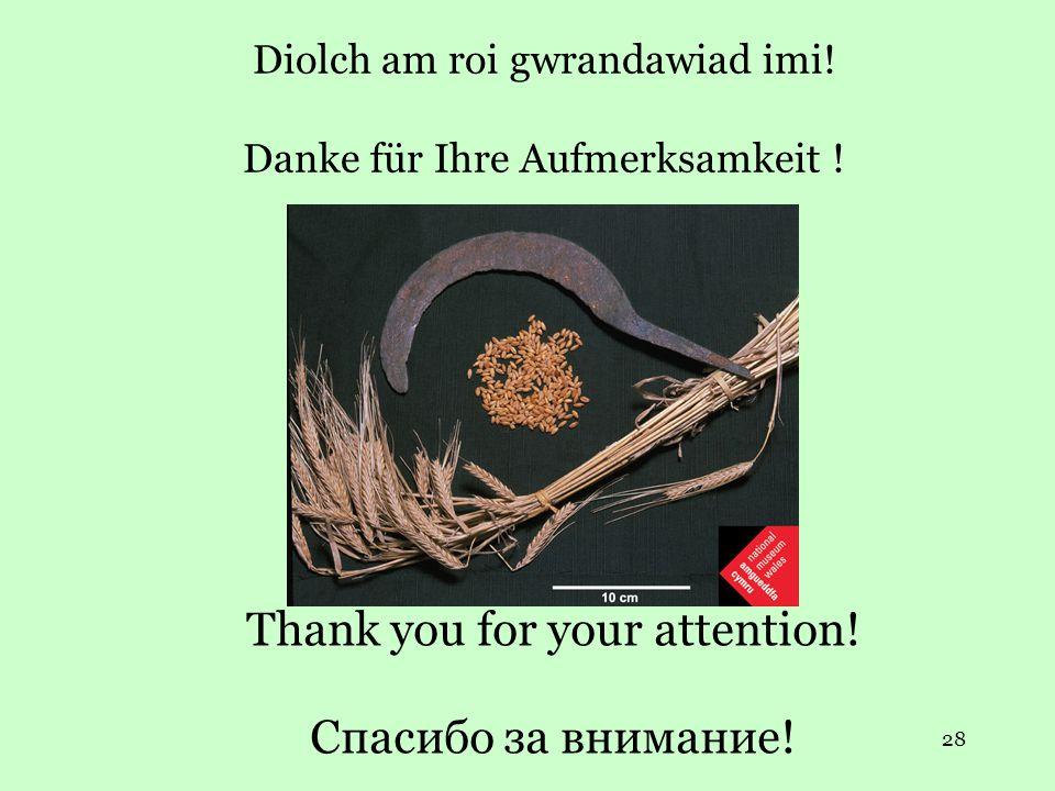 28 Diolch am roi gwrandawiad imi. Danke für Ihre Aufmerksamkeit .