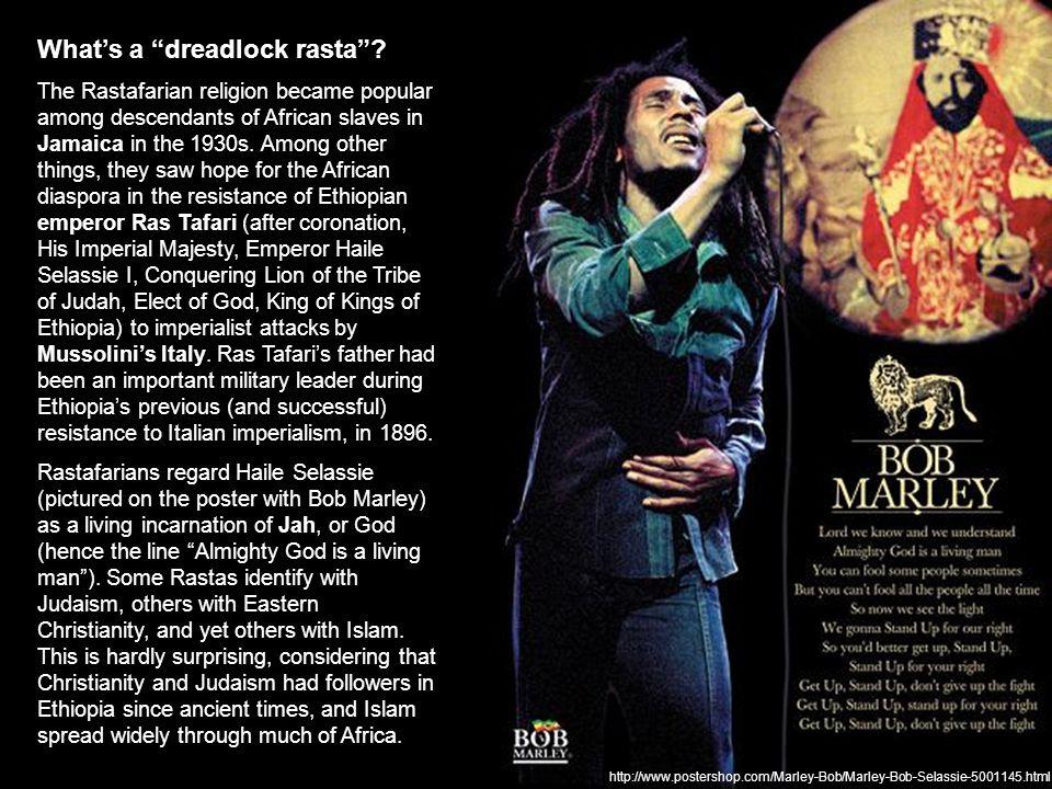 http://www.postershop.com/Marley-Bob/Marley-Bob-Selassie-5001145.html What's a dreadlock rasta .