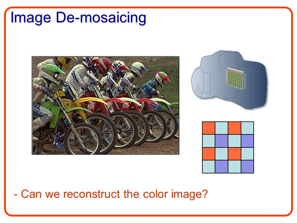 Image De-mosaicing - Can we reconstruct the color image?