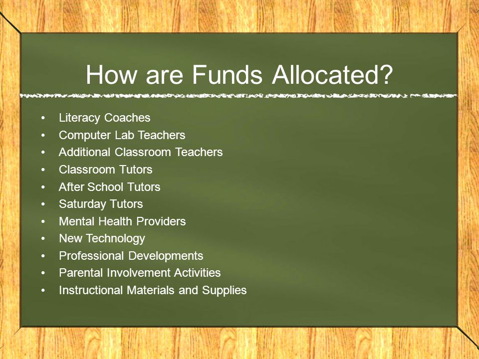 How are Funds Allocated.