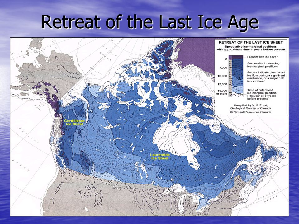 Deposited Features Caused by Glaciation Erratic: a rock picked up by the ice, carried along, and deposited many km's away.