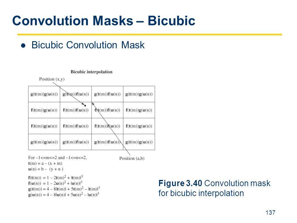 137 Bicubic Convolution Mask Convolution Masks – Bicubic Figure 3.40 Convolution mask for bicubic interpolation