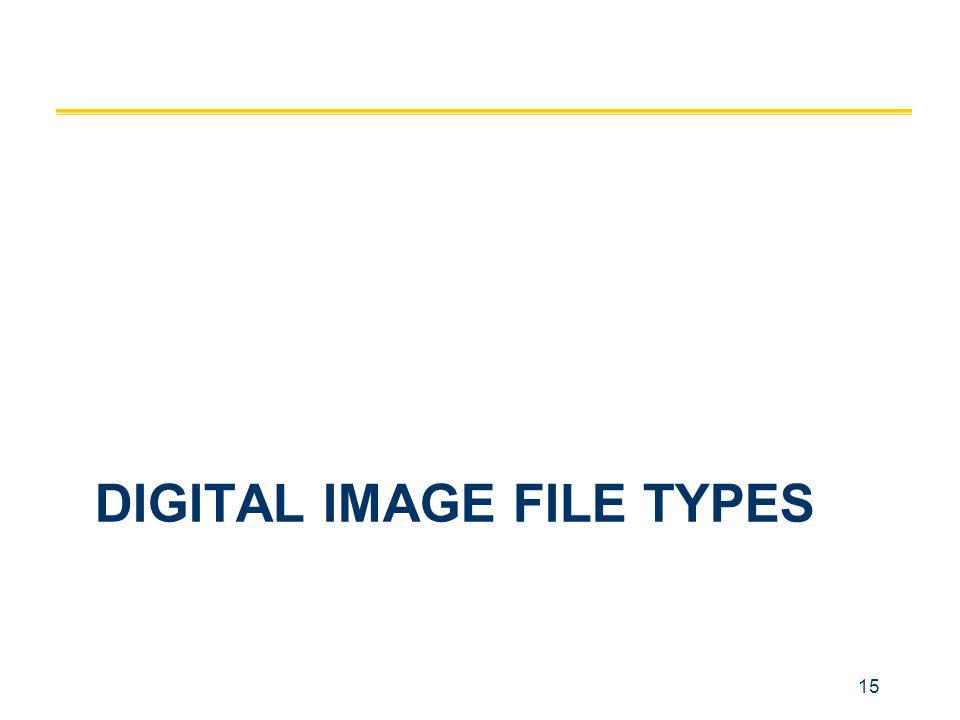 15 DIGITAL IMAGE FILE TYPES