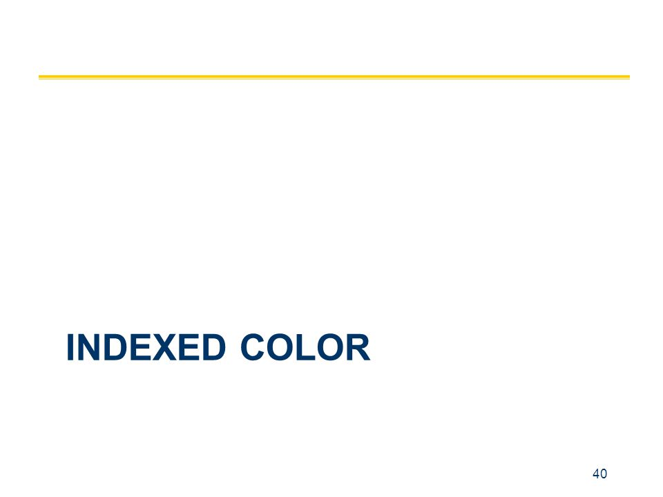 40 INDEXED COLOR