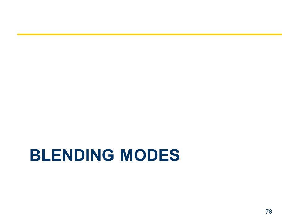 76 BLENDING MODES