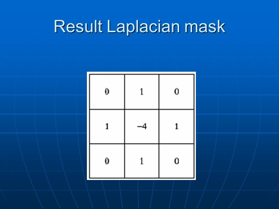 Result Laplacian mask
