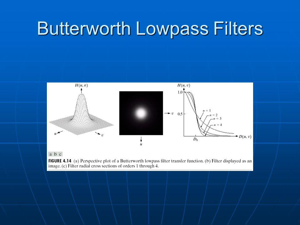 Butterworth Lowpass Filters