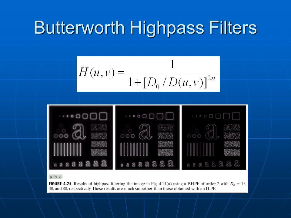 Butterworth Highpass Filters