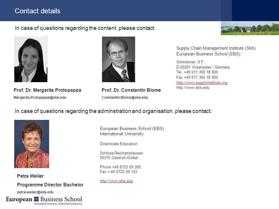 Contact details Prof. Dr.