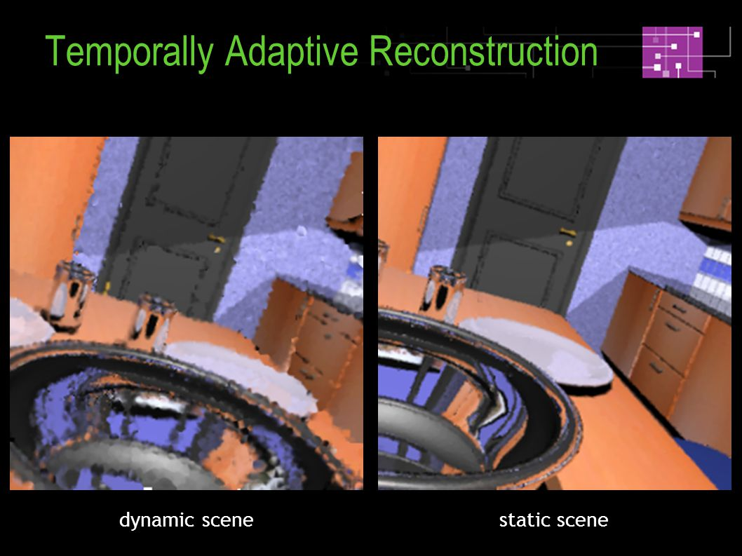 static scenedynamic scene Temporally Adaptive Reconstruction