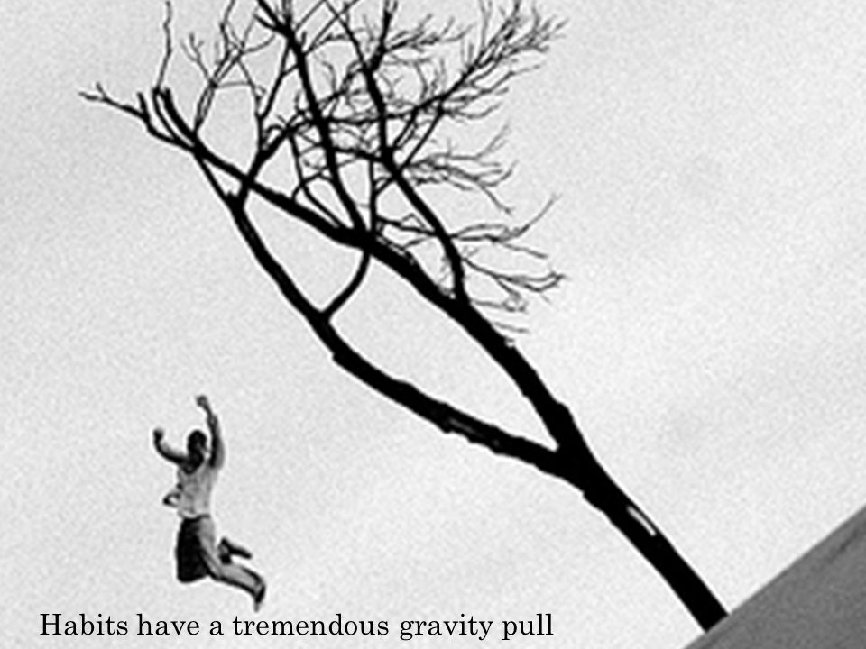Habits have a tremendous gravity pull