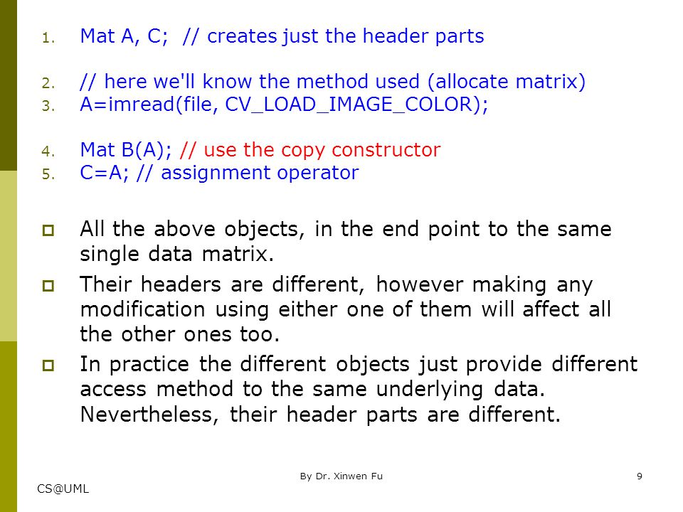 CS@UML Refer only to a subsection of the full data  The real interesting part comes that you can create headers that refer only to a subsection of the full data.