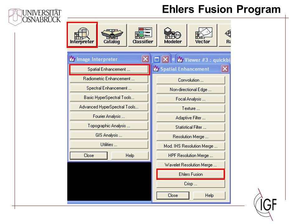 Ehlers Fusion Program