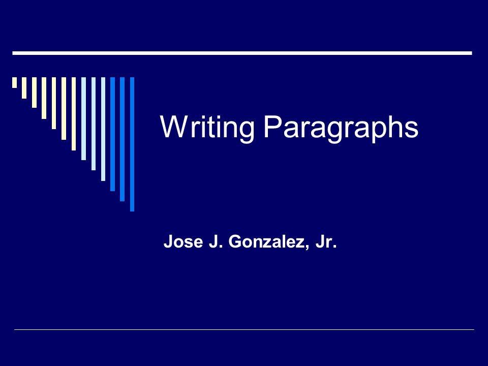 What is a paragraph.