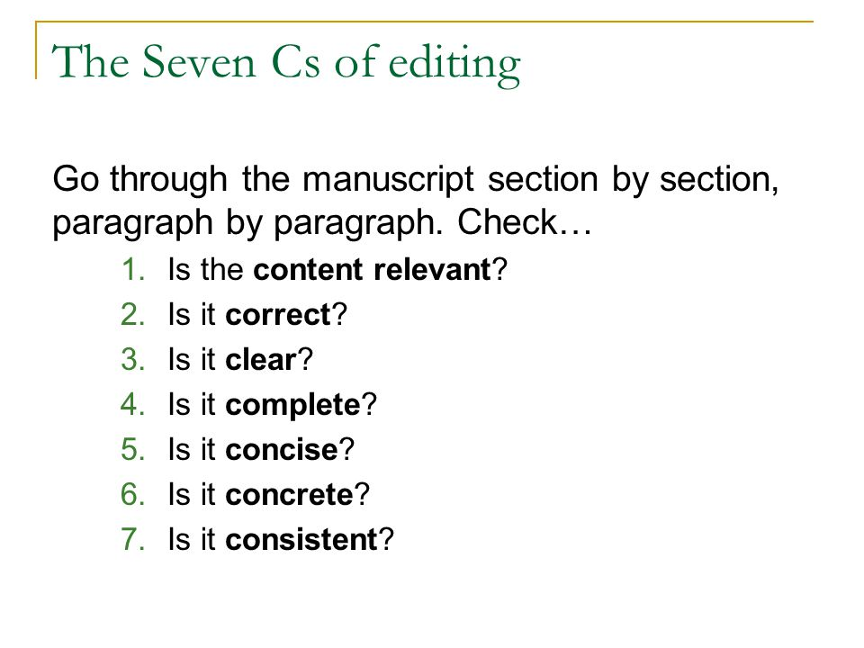 C 1Is the content relevant.Is the overall topic relevant to the audience.