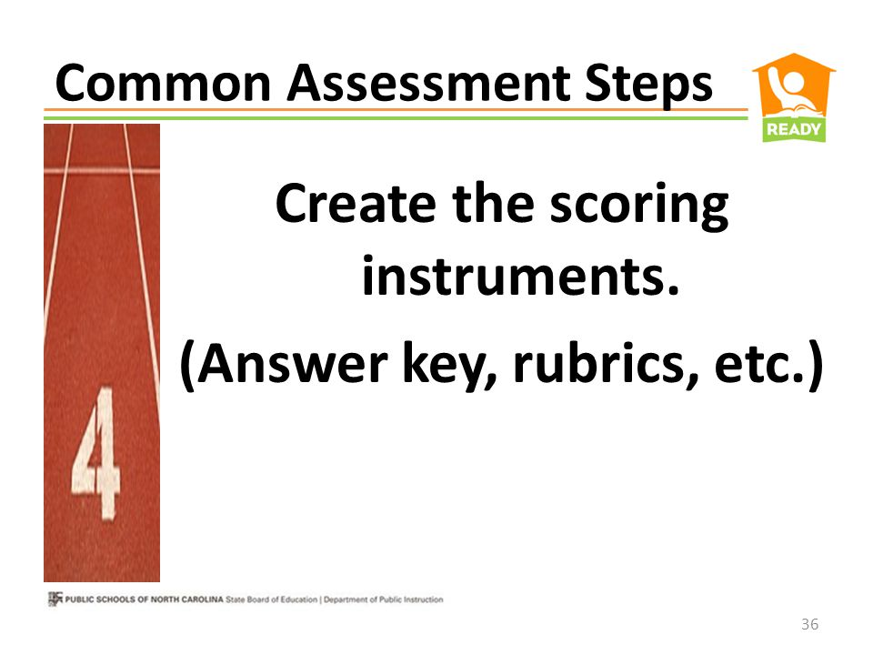 Common Assessment Steps Include a blend of both selected-response and constructed-response items.