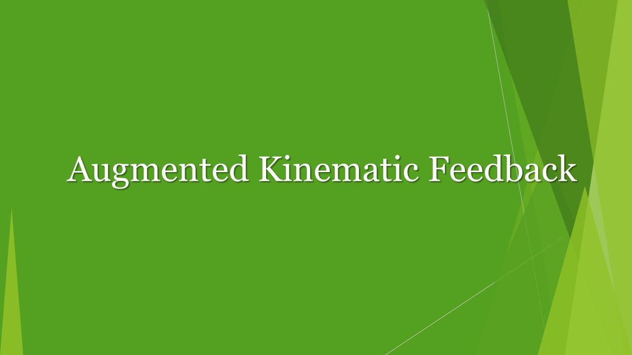 Augmented Kinematic Feedback