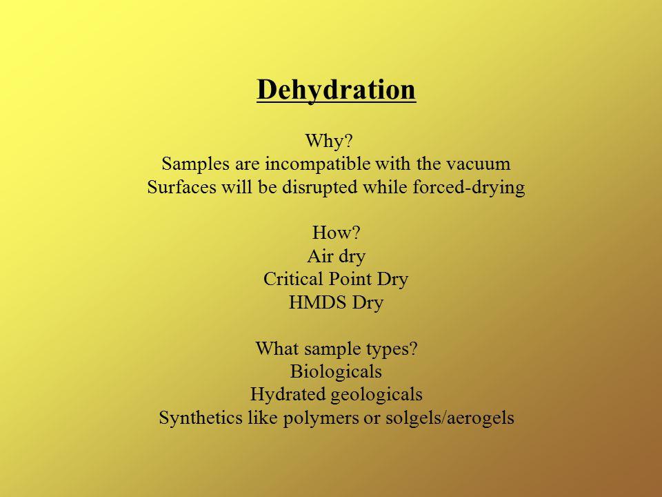 Dehydration Why.