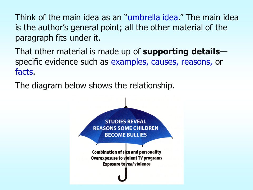 What three addition words are used in the paragraph on bullies to signal the three major supporting details.
