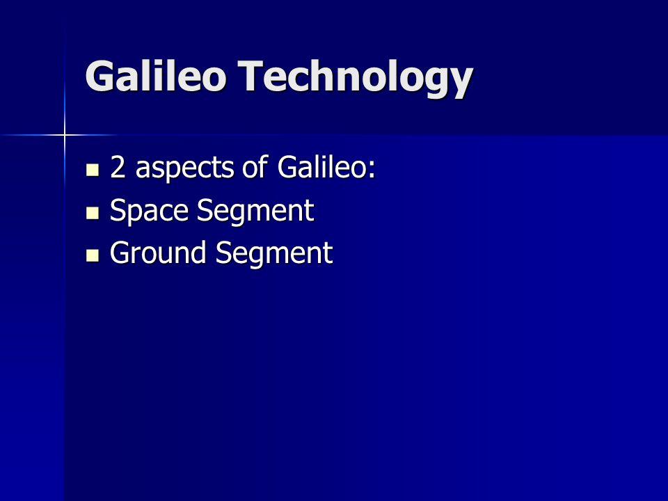 Galileo Technology 2 aspects of Galileo: 2 aspects of Galileo: Space Segment Space Segment Ground Segment Ground Segment