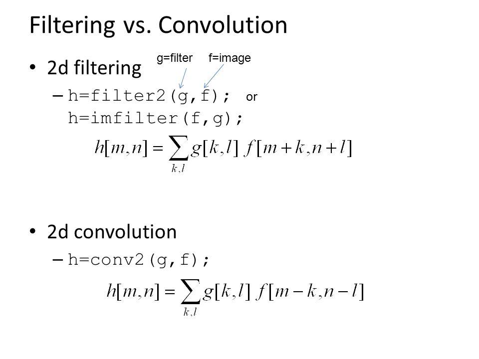 Filtering vs.