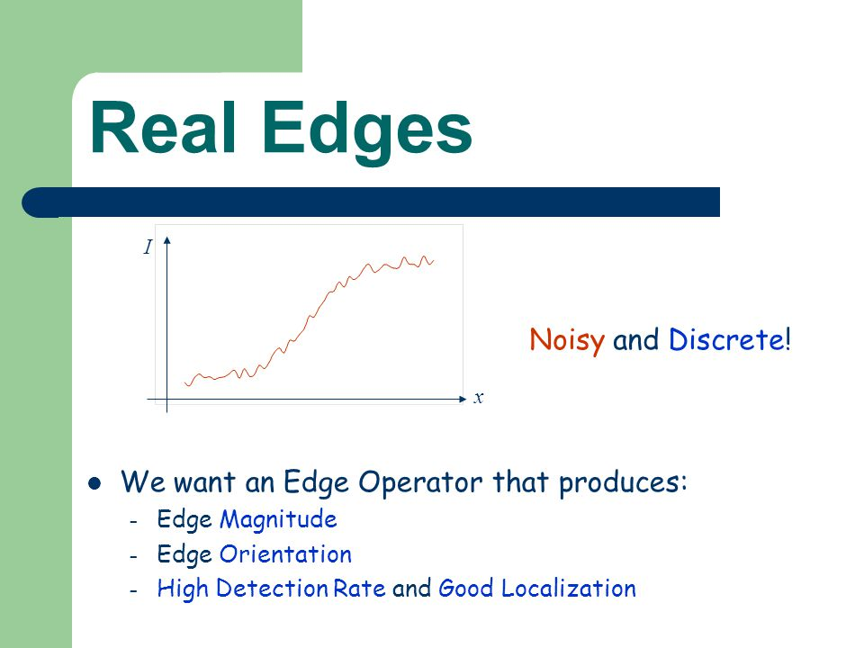 Real Edges Noisy and Discrete.