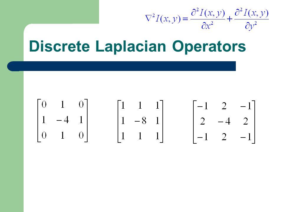 Discrete Laplacian Operators
