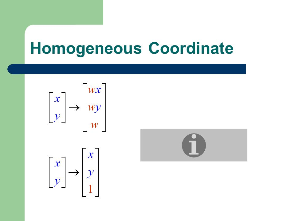Homogeneous Coordinate
