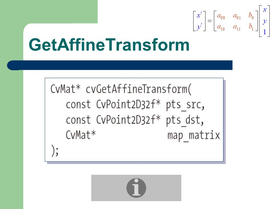 GetAffineTransform
