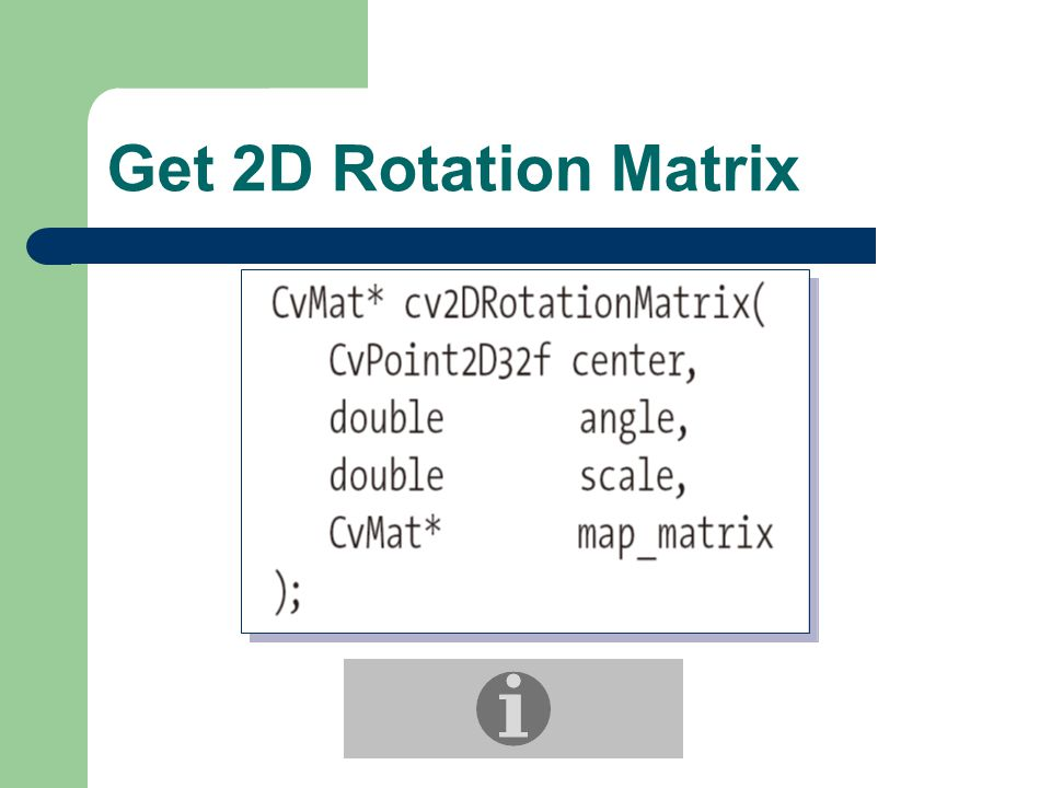 Get 2D Rotation Matrix