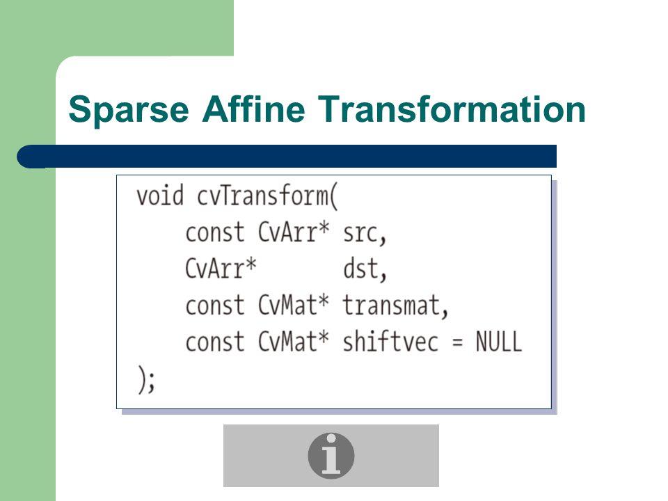 Sparse Affine Transformation