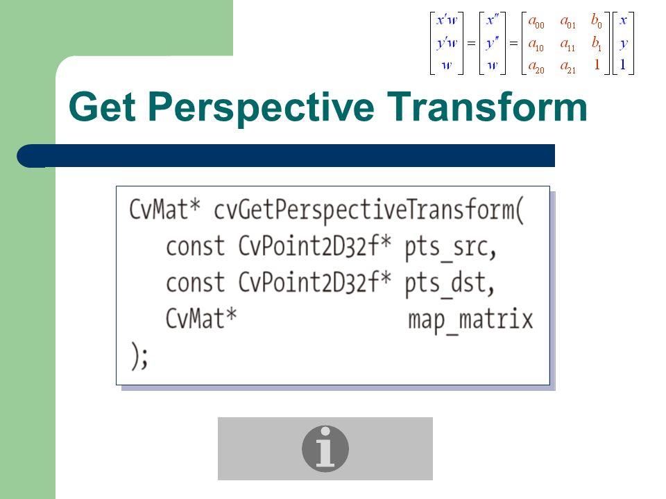 Get Perspective Transform