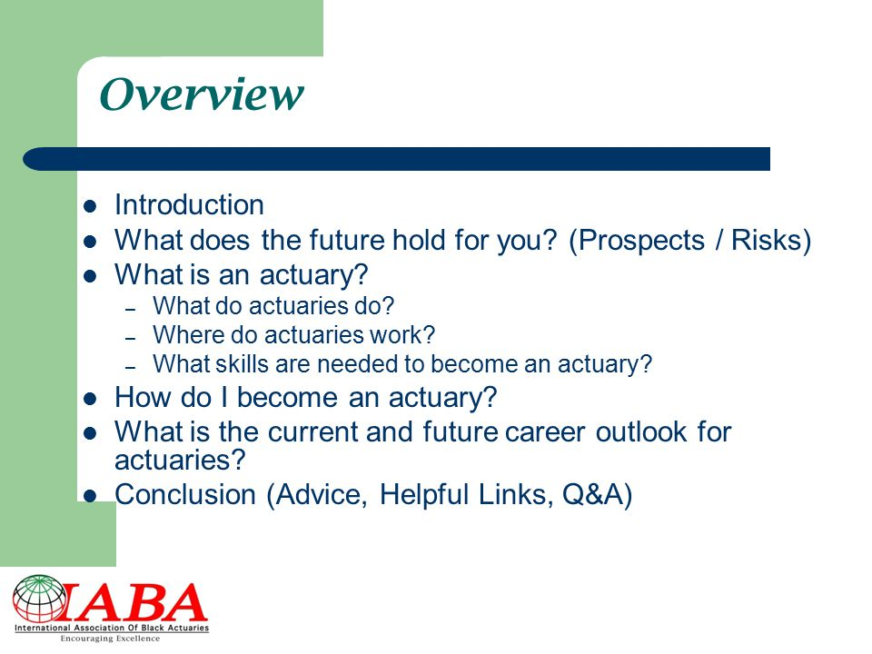 Overview Introduction What does the future hold for you.