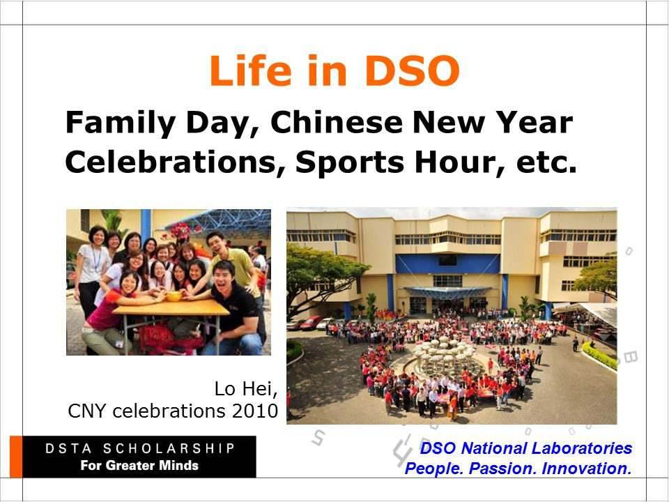 DSO National Laboratories People. Passion. Innovation.