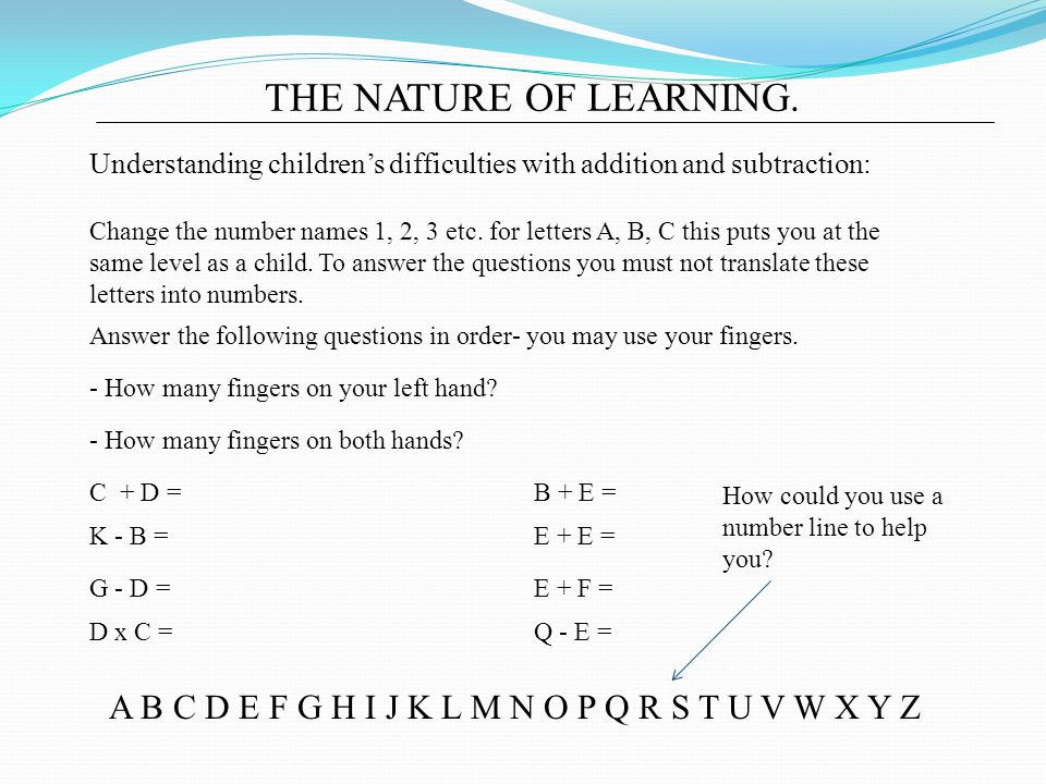 THE NATURE OF LEARNING.