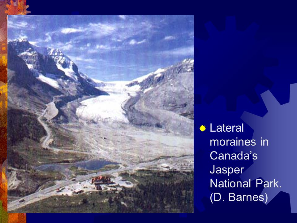  Lateral moraines in Canada's Jasper National Park. (D. Barnes)